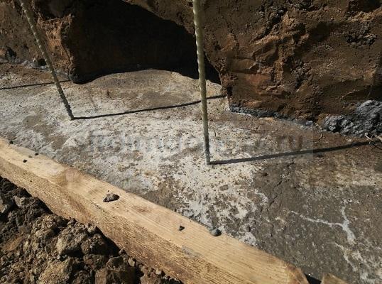 бетон застыл