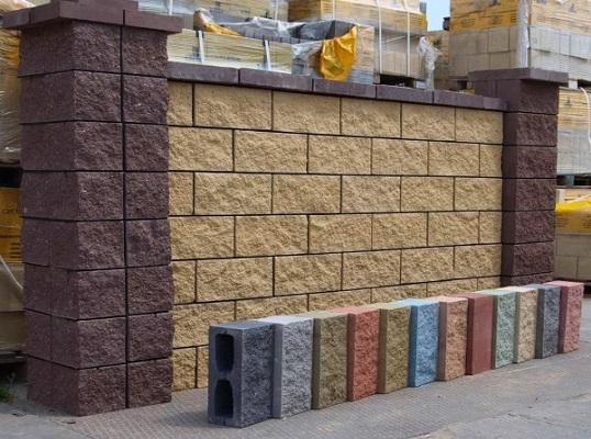 подпорная стена из фасадных блоков