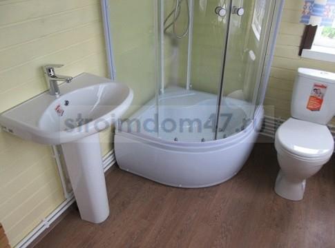 установка туалета, душевой кабинки и раковины