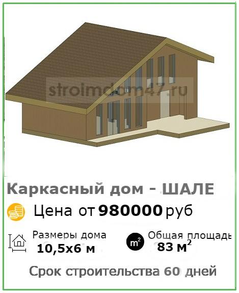 Каркасный дом Шале