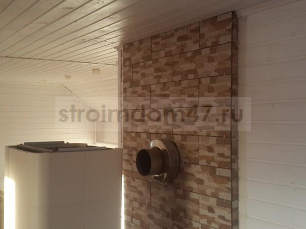 готовая стена из клинкерной плитки