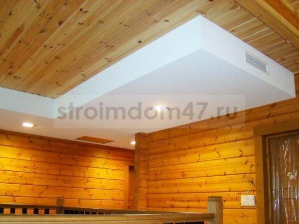 потолок из гипсокартоновой плиты