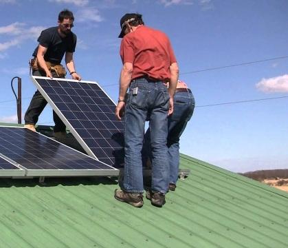 Установим солнечные батареи. Монтаж от СМУ 2410