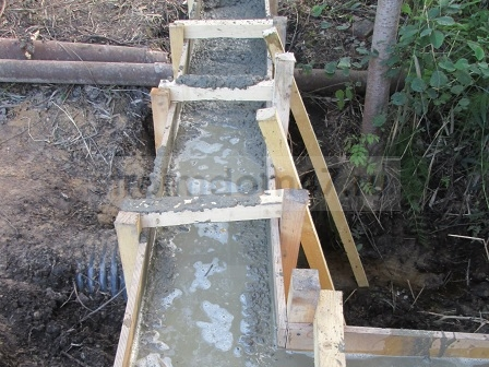 бетон в опалубке