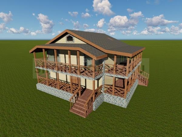 двухэтажный дом вид спереди
