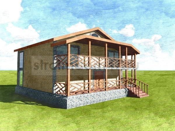 двухэтажный дом вид сбоку