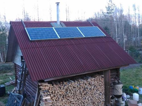 солнечные панели на бане